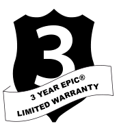 3 YEAR EPIC® LIMITED WARRANTY